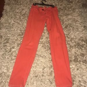 Red orange jeans!